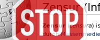 Banner Zensur-Stoppschild